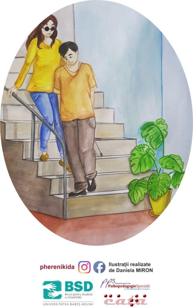 Cum să mă ghidezi pe scări
