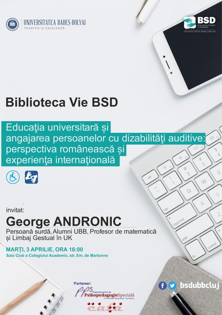 Afis biblioteca vie - George Andronic