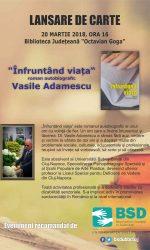 Eveniment recomandat de BSD – Lansare de carte Vasile ADAMESCU (Alumni UBB)