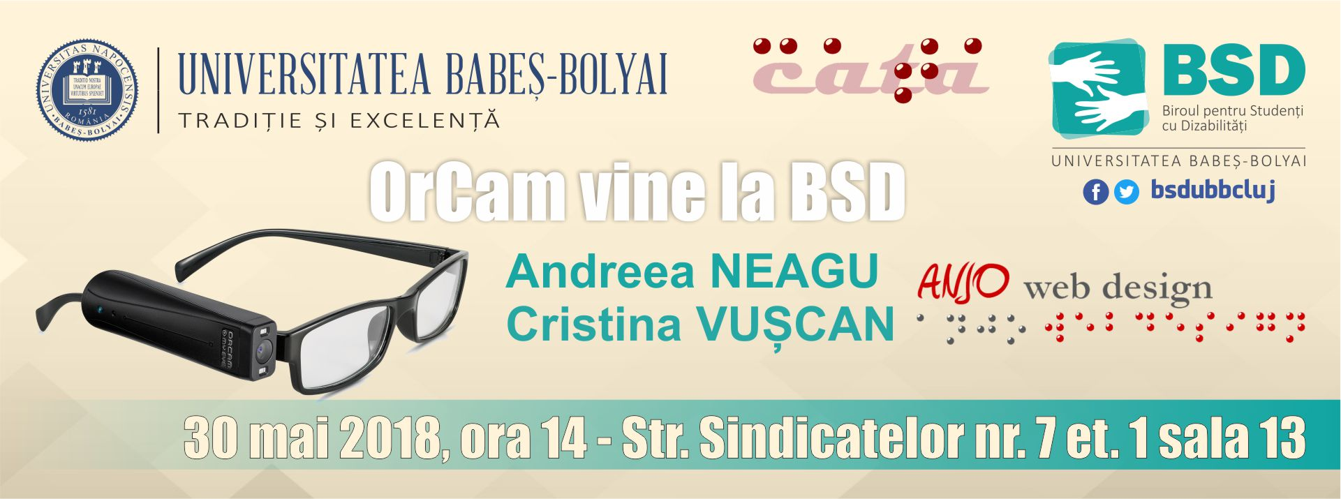 Afis OrCam MyEye – Andreea Neagu si Cristina Vuscan