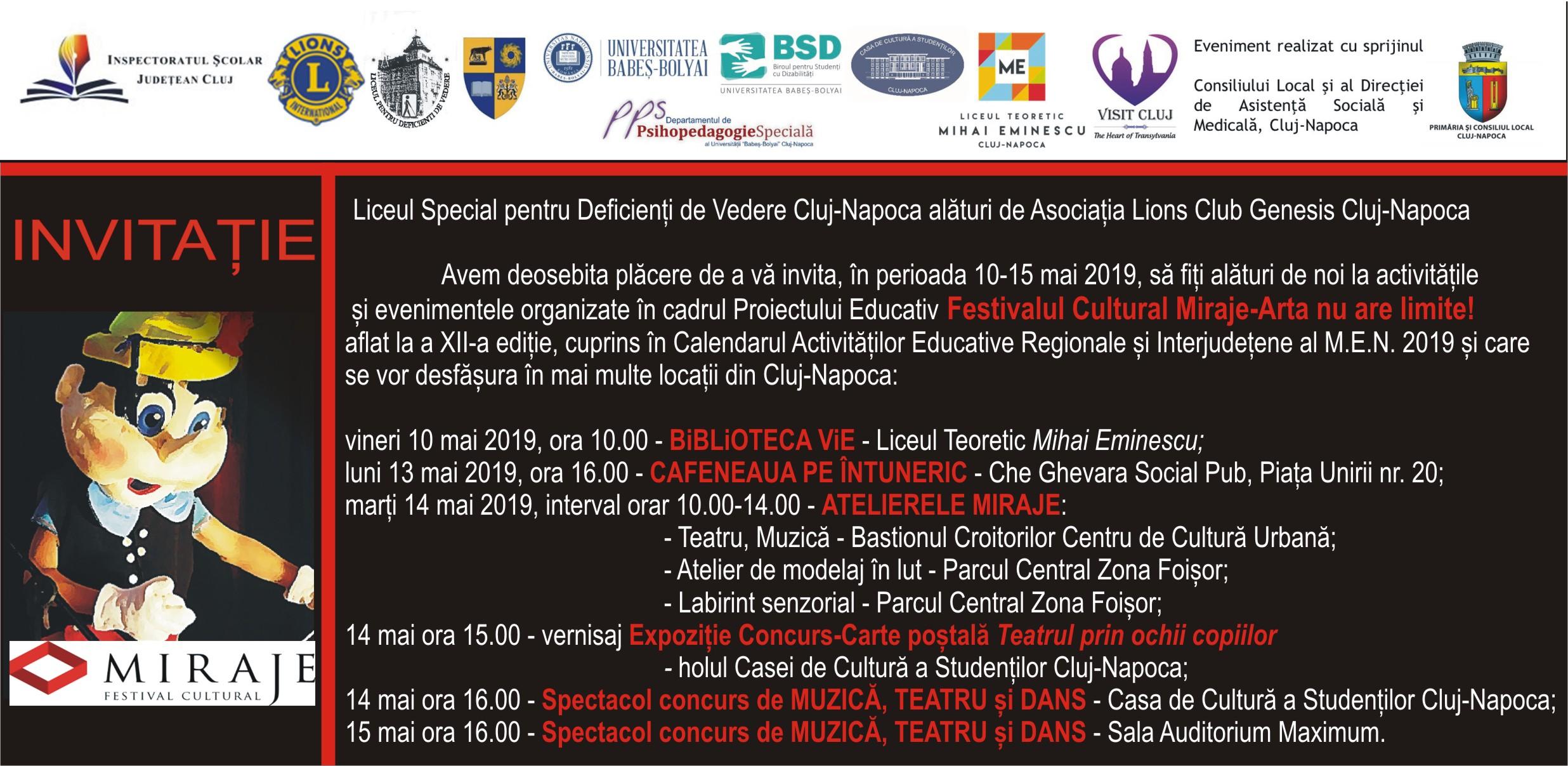 invitatie Festival Cultural Miraje 2019
