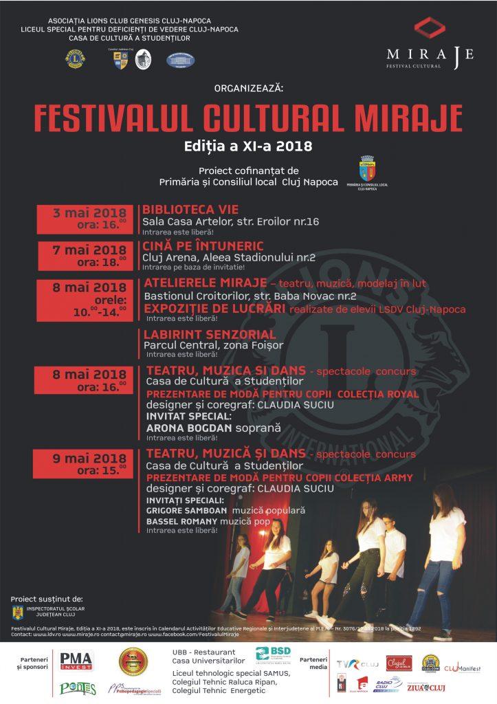 afis festivalul Miraje